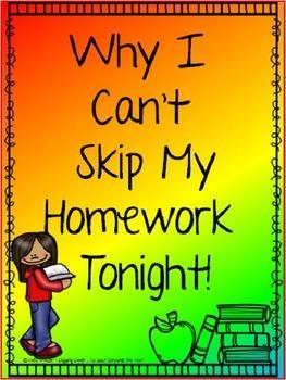 FREE ~ Why I Can't Skip My Reading Homework Tonight ~ FREE