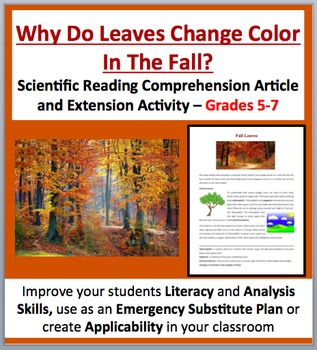 Why Leaves Change Color In The Fall - Scientific Reading