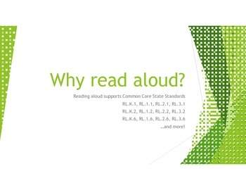Why Read Aloud? Common Core State Standards Grades K-3