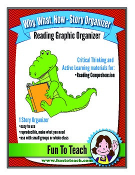Why, What, How!  Story Graphic Reading Organizer