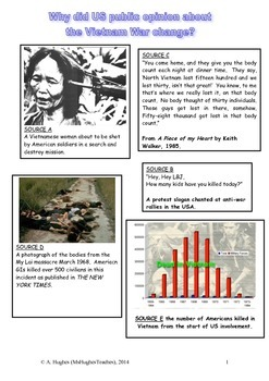 Why did US public opinion turn against the Vietnam War by