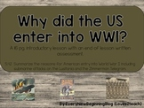Why did the US enter World War I?  An Introductory Lesson