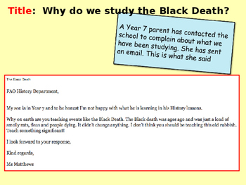 Why do we study the Black Death?