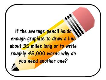 Why do you need another pencil?