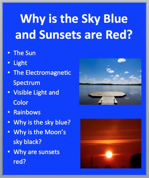 Why is the Sky Blue? Why are Sunsets Red? - PowerPoint Inq