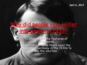 Why did people vote for Hitler and the Nazi party? Nazi wo