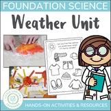 Science Weather Unit - Sunny, Rainy, Cloudy, Stormy, Windy, Snowy