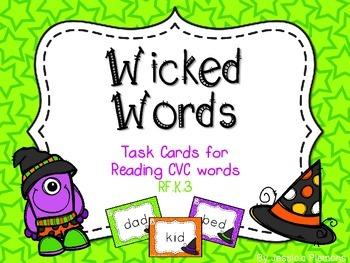 Halloween Task Cards: Wicked Words