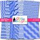 Blue Wiggle Doodle Paper {Scrapbook Backgrounds for Task C