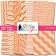 Orange Wiggle Doodle Paper {Scrapbook Backgrounds for Task