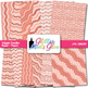 Peach Wiggle Doodle Paper {Scrapbook Backgrounds for Task