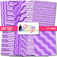 Violet Wiggle Doodle Paper {Scrapbook Backgrounds for Task