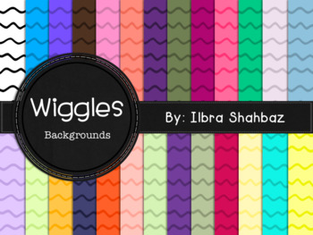 Wiggles Digital Paper Backgrounds {26 in All}