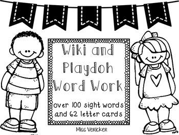 Wiki & Playdoh Word Work and Handwriting Practice!