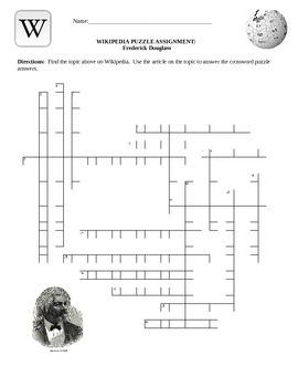 Wikipedia Biography Puzzle- Frederick Douglass Internet As