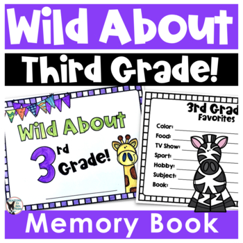 3rd Grade End of the Year Memory Book- Animal Themed
