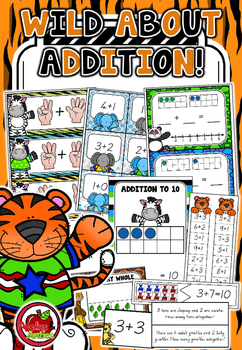 Wild About Addition Math Centres