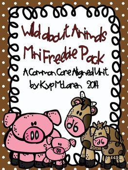 Wild About Animals Mini Research Pack - Common Core Research Pack