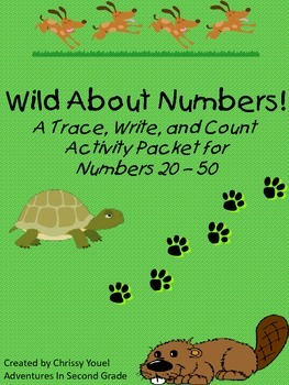 Wild About Numbers:  A Trace, Write, and Count Activity Pa