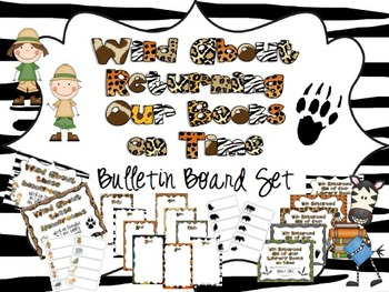 Wild About Returning Our Books On Time Bulletin Board Set