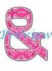 Wild West - Western Themed Pink Bandana Alphabet Graphic Set