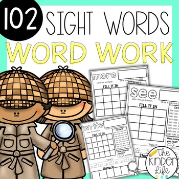 Wild About Sight Words: Independent Work, Literacy Center,