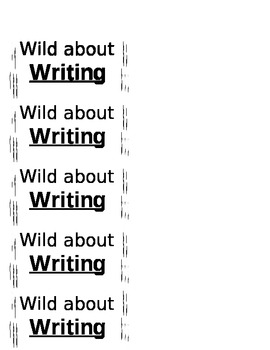 Wild About Writing Labels