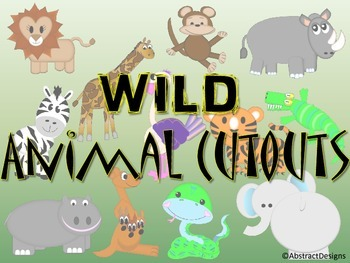 Wild Animal Cutouts