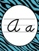 Wild Animal Print Cursive Alphabet Posters (Dnealian Font)