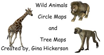 Wild Animals Circle Maps and Tree Maps for SmartBoards