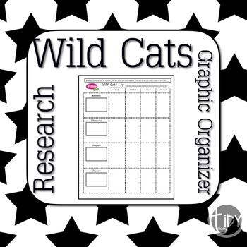 Wild Cats PebbleGo Graphic Organizers