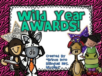 Wild End of Year Awards Editable