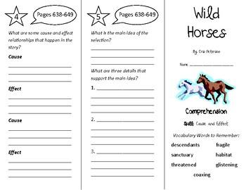 Wild Horses Trifold - Treasures 4th Grade Unit 5 Week 5 (2009)