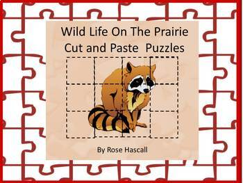 Animal Cut and Paste Life on the Prairie puzzles,Fine Moto