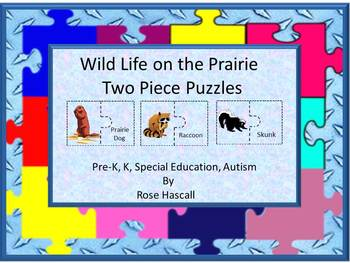 Wild Life On the Prairie Two Piece Puzzles
