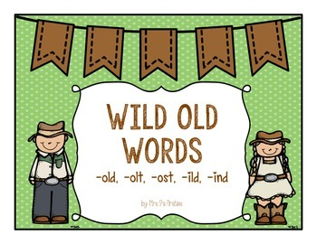 Wild Old Words: old, olt, ost, ild, ind