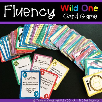 Wild One Fluency (Stuttering) Card Game