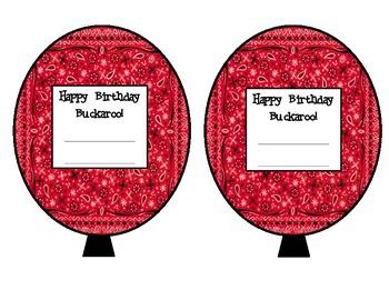 Wild West Birthday Balloons