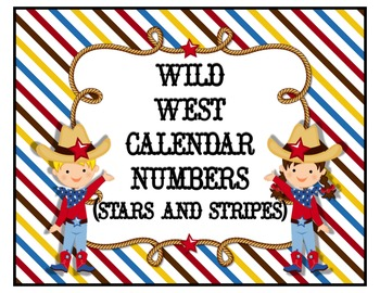 Wild West Calendar Numbers (Stars & Stripes)
