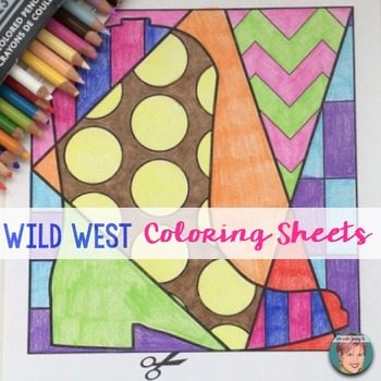 Wild West - Interactive Coloring Sheets