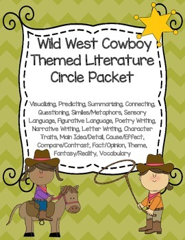 Wild West Cowboy Themed Literature Circle Packet: Use With