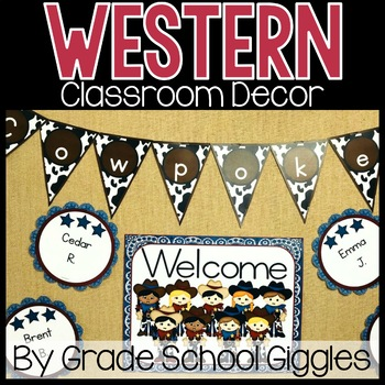 Editable Western Classroom Decor ~ 400 Pages of Western Decor!