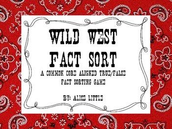 Wild West Fact Sort (Freebie)