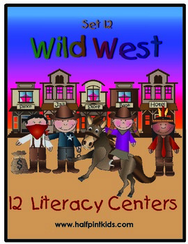 Wild West Literacy Centers: Half-Pint Readers Set 12