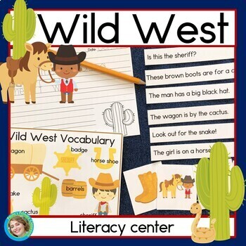 Wild West sentence picture match