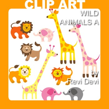Wild animals clip art 13009 (teacher resource) giraffe, li