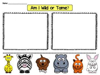 Wild or Tame Animal Sort