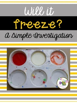 Will it freeze?  {A states of matter experiment}
