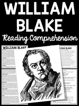 William Blake Biography Reading Comprehension Worksheet, P