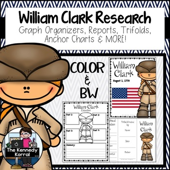 William Clark Biography Research Bundle {Report, Trifold,